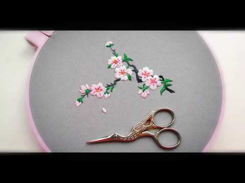 Hand Embroidery Designs | Sakura | Вышивка Сакуры