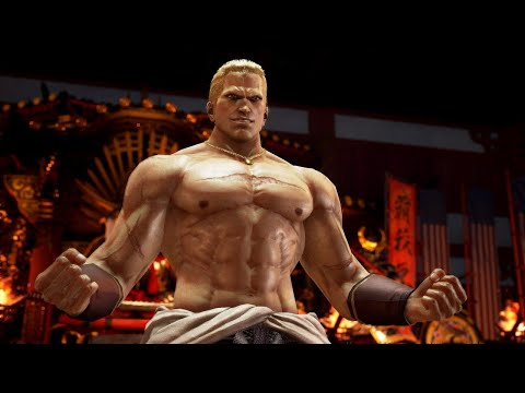 Tekken 7 Geese Howard Gameplay With Katsuhiro Harada And