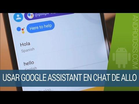 Cómo usar Google Assistant en un chat de Google Allo