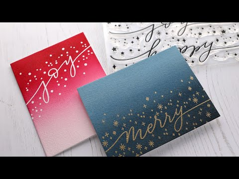 Holiday Card Series 2020 - Day 8 - Clean & Simple Watercolor Cards