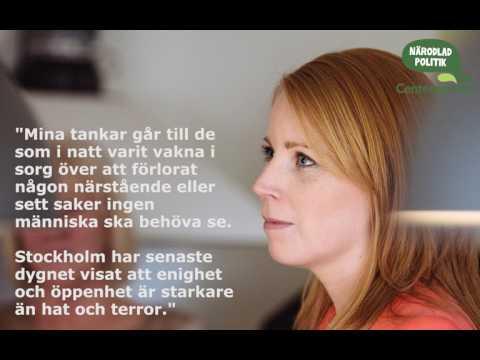 Annie Lööf i Ekot med anledning av attentatet i Stockholm