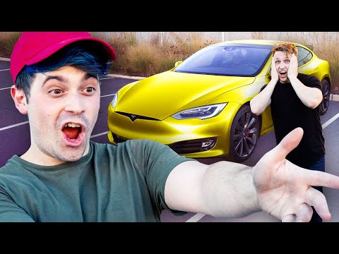 Surprising My Best Friend with a New Tesla!