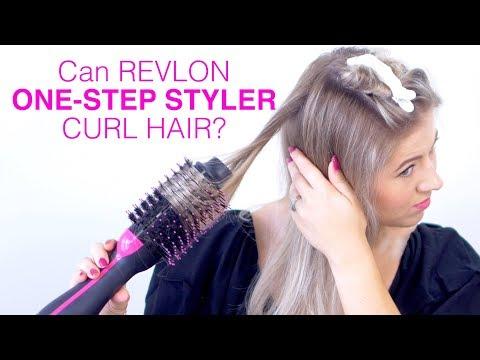 Can REVLON ONE STEP HAIR DRYER curl hair?!