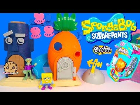 Spongebob Squarepants Bikini Bottom Squidward Playset Toy + Shopkins Season 3 Blind Bag - UCelMeixAOTs2OQAAi9wU8-g