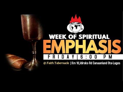DOMI STREAM: WEEK OF SPIRITUAL EMPHASIS  7, APRIL 2021.