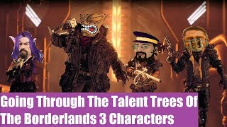 Amara, Zane, FL4K, & Moze | Going Through The Talent Trees Of The Borderlands 3 Characters