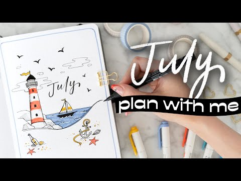 PLAN WITH ME   July 2021 Bullet Journal Setup