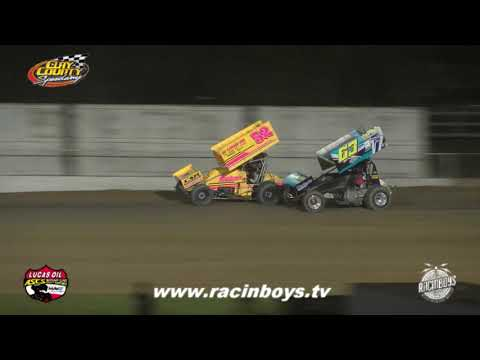 Lucas Oil ASCS Highlights  Clay County Fair 9 14 21 - dirt track racing video image