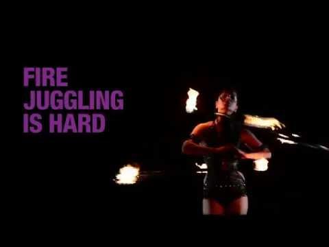E-ZPass Fire Juggling