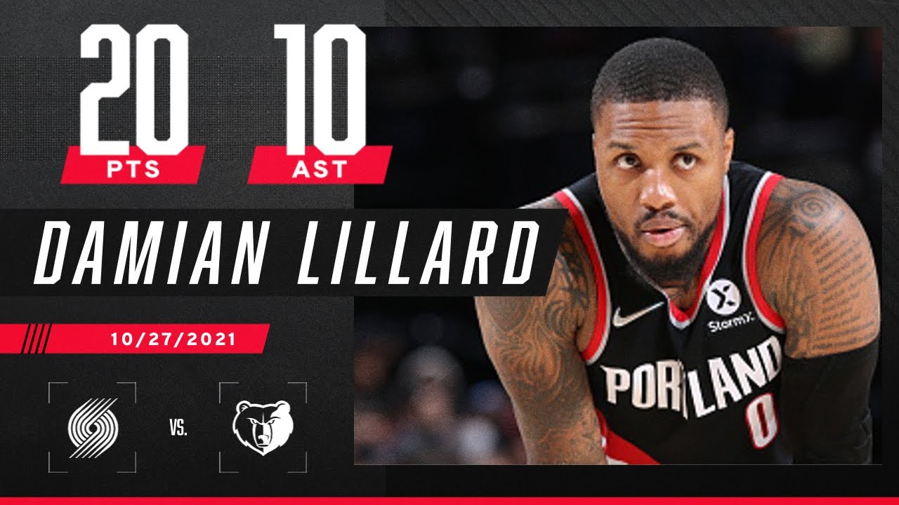 Dame's 20 & 10 game moves Blazers past Grizzlies