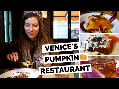 Michelin Restaurant in Venice, Italy | Trying Pumpkin Dishes!