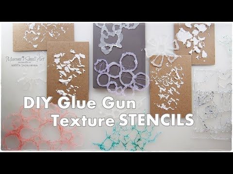 DIY Texture Stencils from Glue Gun for Mixed Media Art Journaling ♡ Maremi's Small Art ♡