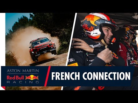 The French Connection   Pierre Gasly hitches a ride with rally champion Sébastien Ogier