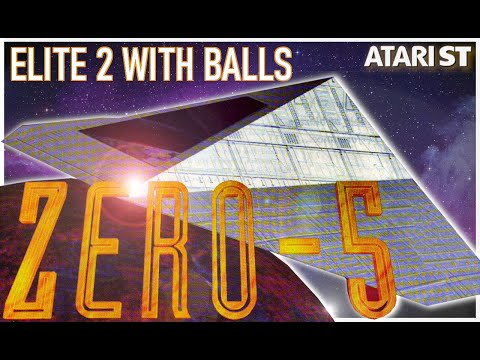 Thumbnail of the video Zero-5 - Complete history - Elite 2 with balls - Best spaceshooter on the Atari STe - Andrew Gisby