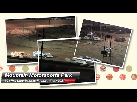 Mountain Motorsports Park - Pro Late Models (604) - 7/30/2021 - dirt track racing video image