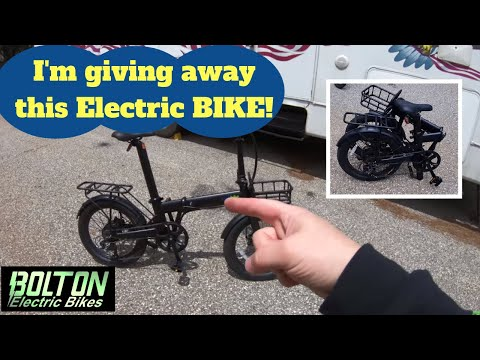 Electric Bike Giveaway!  The new Qualisports Folding Ebike