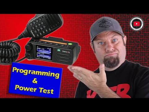 Radioddity DB25-D Programming Software and Codeplug Demo, Power Test