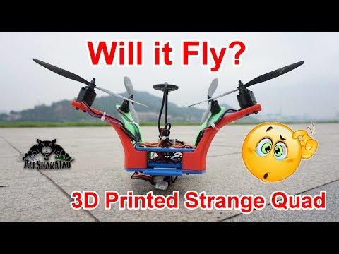 Strange Drones 3D Printed Cruiser Quadcopter Maiden Flight - UCsFctXdFnbeoKpLefdEloEQ