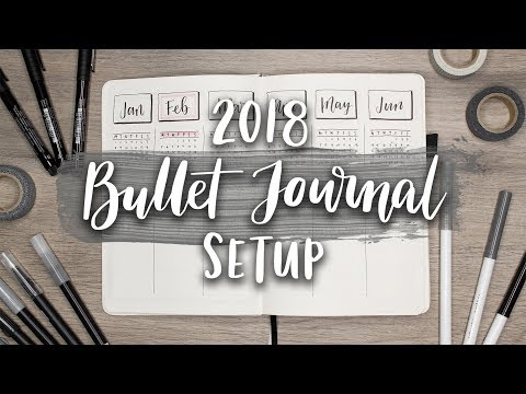 My Bullet Journal Setup 2018