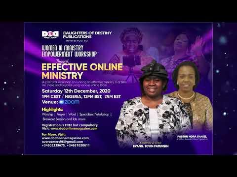 Workshop - Effective Online Ministry 12/12/20
