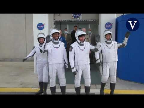 4 astronautas rumbo a la Estación Espacial Internacional