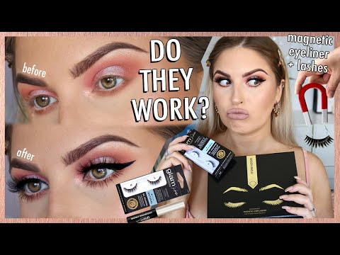 "magnetic eyelashes & eyeliner review ? DOES IT WORK"" debatable..."