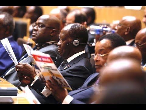 S.E.M Alassane OUATTARA, a pris part, à la cérémonie d'ouverture du 32e Sommet ordinaire de l'UA