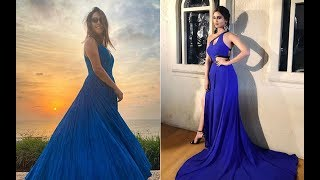 Anita Hassanandani And Krystle D'Souza Are Bleeding Blue In The Same Maxi Gown | Fashion | SpotboyE
