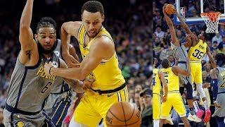 Durant Stuffs Turner's Dunk! Warriors Dominate Pacers! 2018-19 NBA Season
