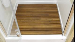 Teak Shower Mats Quality Mat Large Wood Floor You