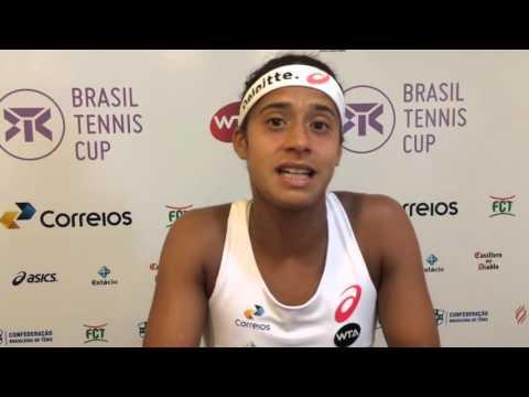 Teliana Pereira é a grande campeã do Brasil Tennis Cup