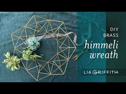 DIY Brass Himmeli Wire Wreath