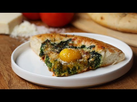 Ultimate Fried Egg Pizza ? Tasty Recipes