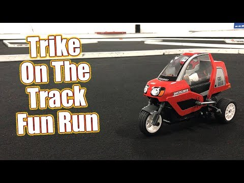Track Fun With An Electric RC Trike! - Tamiya Dancing Rider T3-01 Running Video | RC Driver