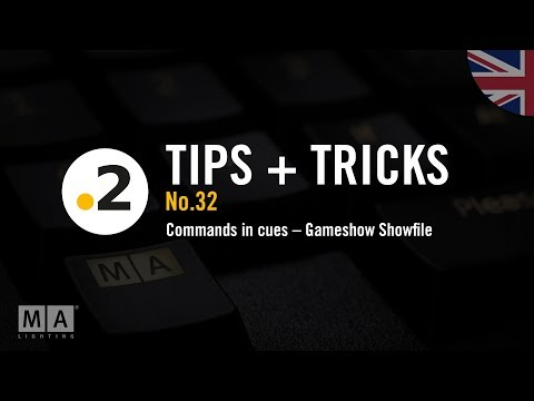 dot2 tips and tricks No32 commands in cues  Gameshow Showfile