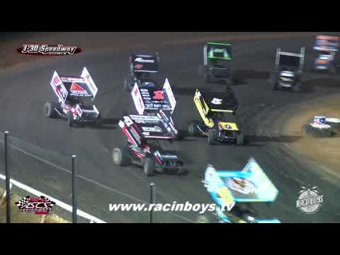 Lucas Oil ASCS Highlights I 30 Speedway 7 24 21 - dirt track racing video image
