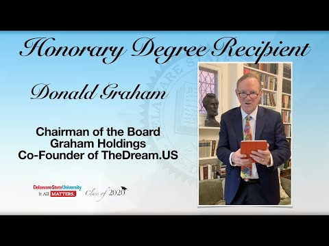 Honorary Degree Recipient Donald Graham  - May Commencement 2020