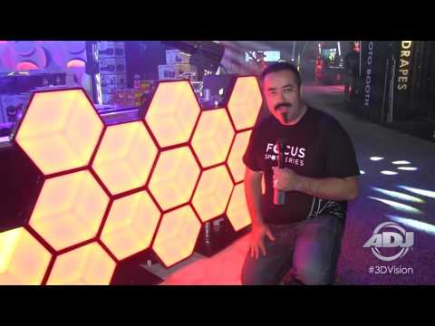 American DJ 3D Vision Hexagonal LED Panel Effect Light First Look