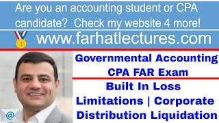 Built In Loss Limitations | Corporate Distribution Liquidation | CPA Exam REG | Antistuffing Rule