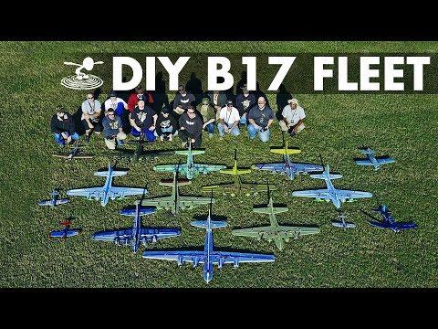 Giant Fleet of DIY B-17 Bombers! - UC9zTuyWffK9ckEz1216noAw