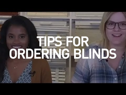 Tips For Ordering Blinds