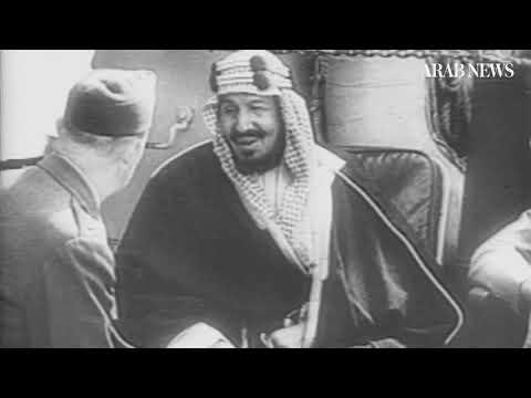 Historic meeting between Saudi Arabia's King Abdul Aziz and US President Franklin D. Roosevelt