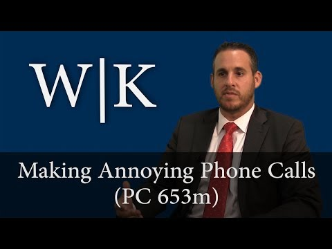 Making Annoying Phone Calls (PC 653m)