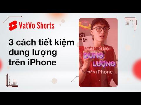 3 cách tiết kiệm dung lượng trên iPhone #shorts