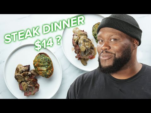 I Tried Making A Steak Dinner For Two With Only $14 ? Tasty