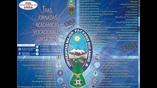 Jornadas Académicas Vocacionales. 15 de Mayo