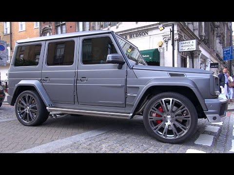 Mercedes-Benz BRABUS G63 AMG B63 620 on the road in London!