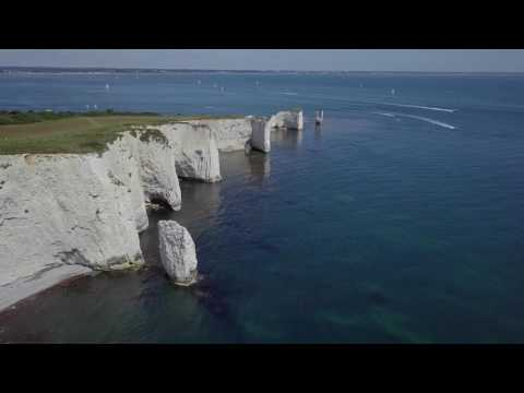 view Old Harry Rocks and Agglestone Rock, Studland, Dorset