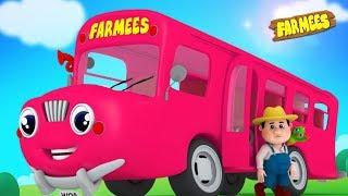 Wheels On The Bus | Nursery Rhymes for Babies | Kindergarten Songs