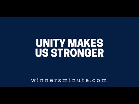Unity Makes Us Stronger  The Winner's Minute With Mac Hammond